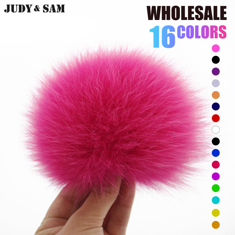 Fluffy Real Fox Fur Pom Pom 16 Colors Fur Ball for Keychain Fur Bag Charm Women Bag Accessories Pompon for Skullies and Beanies alphbet pompom fashion for car 12cm fluffy real fox fur pompon key ring keychain for bag accessory