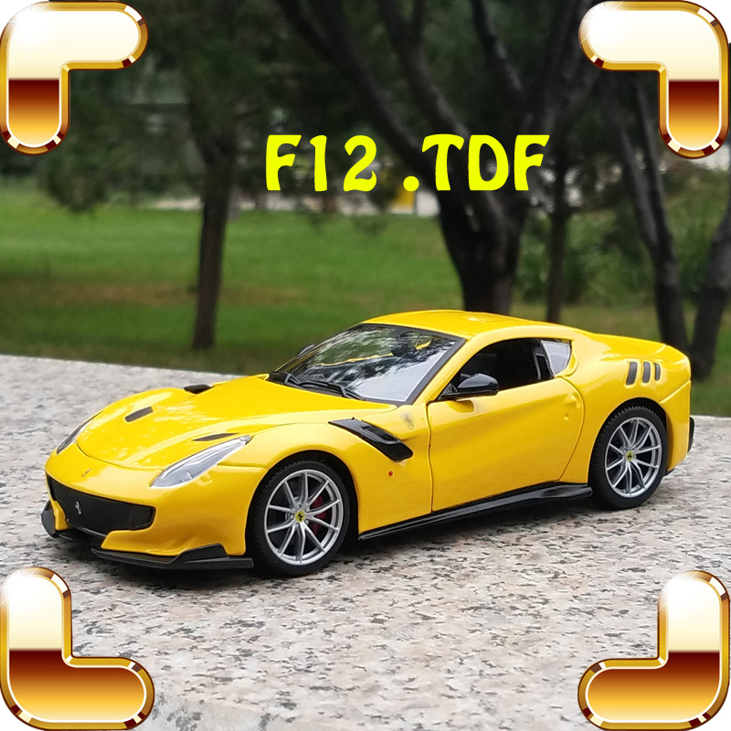 Christmas Gift TDF 1/24 Alloy Model Car Static Diecast Toys Cars Home Collection Decorate Heavy Luxury Present Simulation Scale christmas gift aurelia b24 1 18 model diecast car collection alloy table decoration toys classic cars scales present for fans