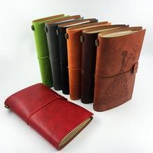 RuiZe reviste din piele realizate manual goale pagini călători notebook reumplere vintage schițe de carte jurnal note carte creativ papetărie cadou