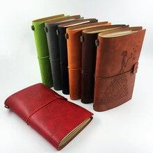 Купить RuiZe ручной работы из кожи, журналы пустой страницы traveler notebook заправка винтажный скетчбук дневник записная книжка творческих канцелярских подарок
