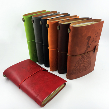 Ruize Handmade Vintage Leather Journal Sketchbook Diary Note Book Creative Stationery A6 Blank Pages Traveler Notebook Refill цена 2017