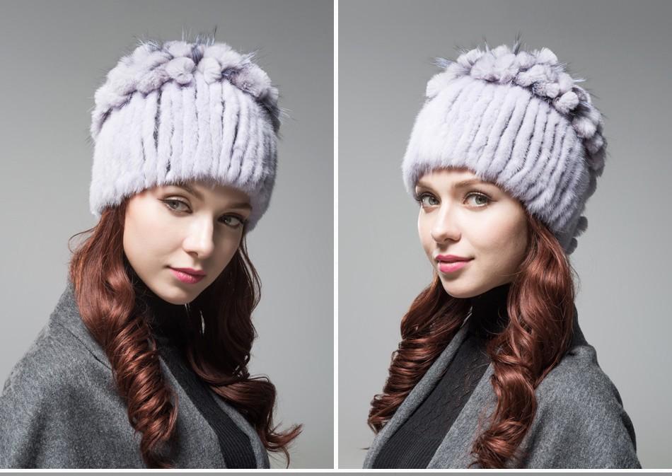 mink fur hats female winter PCM016 (18)