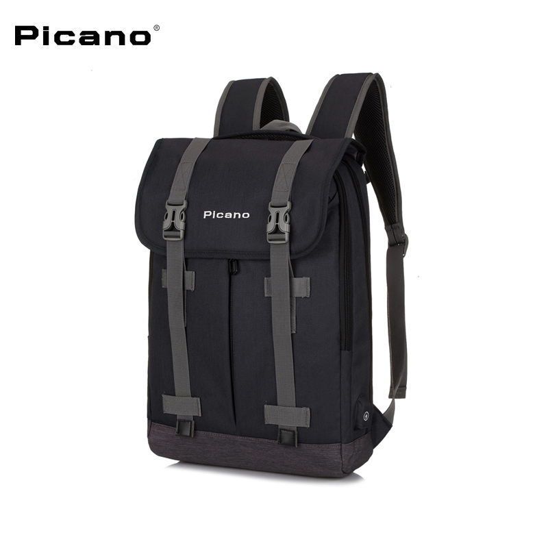 Picano Men 15 inches Laptop Backpack Anti-theft Large Capacity with USB Charge for Teenage Mochila Leisure Travel Backpack 1613 men backpack student school bag for teenager boys large capacity trip backpacks laptop backpack for 15 inches mochila masculina