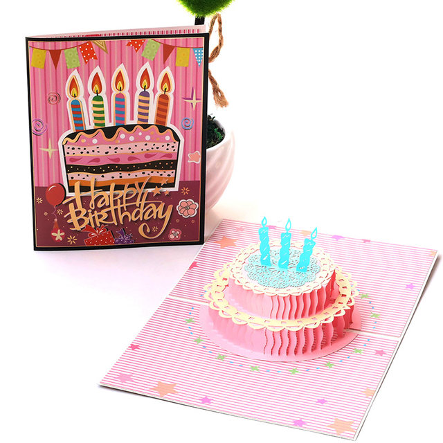 Online Shop Happy Birthday Postcard Greeting Gift Cards Blank Paper