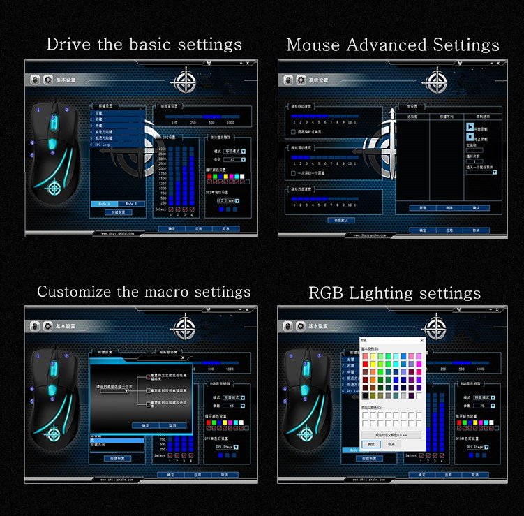 Hongsund MG3 Wired Optical Lights USB PC Computer Laptop Gamer Game Gaming Mouse Mice IE3.0 upgrade IO1.1CF CS LOL Gaming Mouse 73