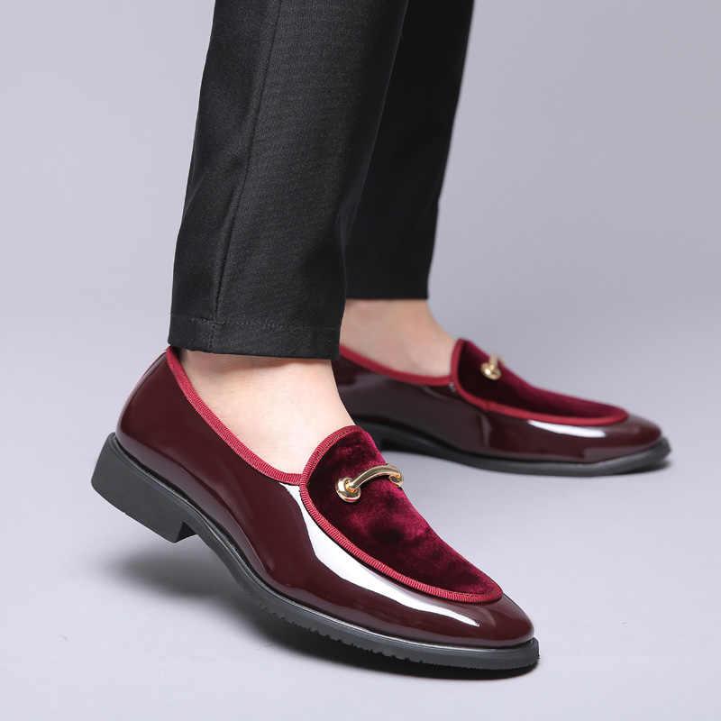 ROXDIA thương hiệu Plus size 39-48 áo cưới đế bằng thời trang đàn công việc mũi nhọn Đầm giày nam giày Oxford Đế RXM108