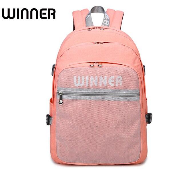 f52de8855a High Quality College Students Pink Women Backpacks Teens Girls Designer  Outside Mesh Bag Waterproof Polyester Lady Bagpack
