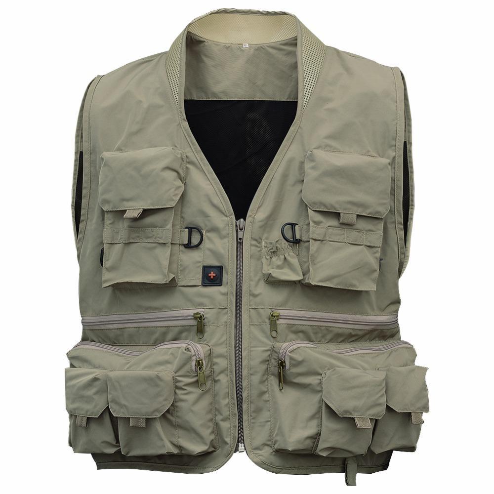 Fly Fishing Vest Life Multi Pocket Jackets Breathable Men Jacket Swimming Winter Vest Safety Life-Saving Fishing Utility Vest