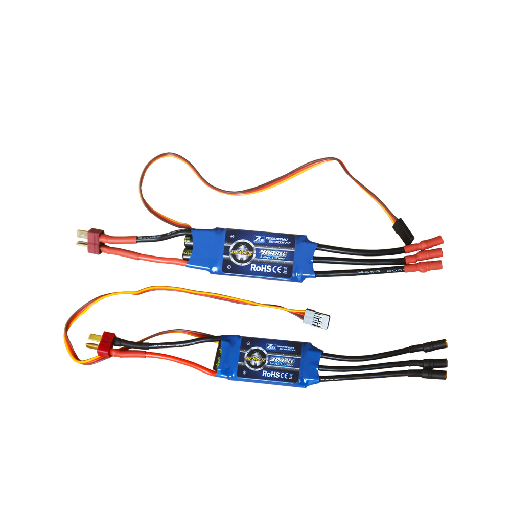 1pcs Original ZTW Beatles 20A/30A/40A 2-4S LiPo Battery Brushless ESC with 5V/3A BEC for 400-500 Class Fixed-wing RC Airplane 1s 2s 3s 4s 5s 6s 7s 8s lipo battery balance connector for rc model battery esc