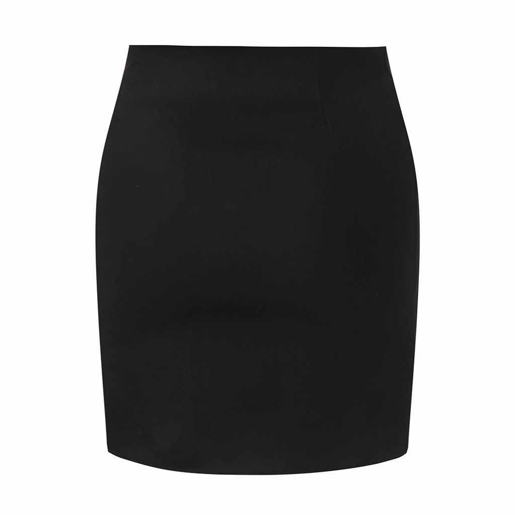 2019 сексуальные юбки женские новые горячие модные повседневные дикие Твердые Сплит клуб футляр-мини вечерние юбки бесплатная доставка