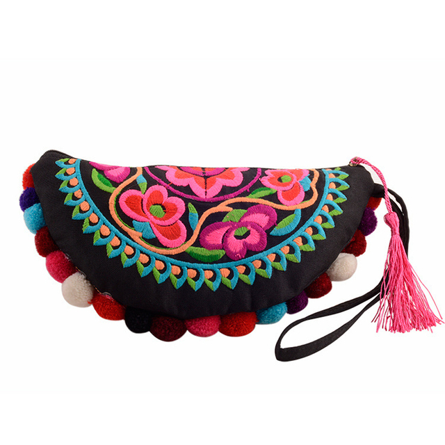 Bohemian Embroidery Wallet Mawgie
