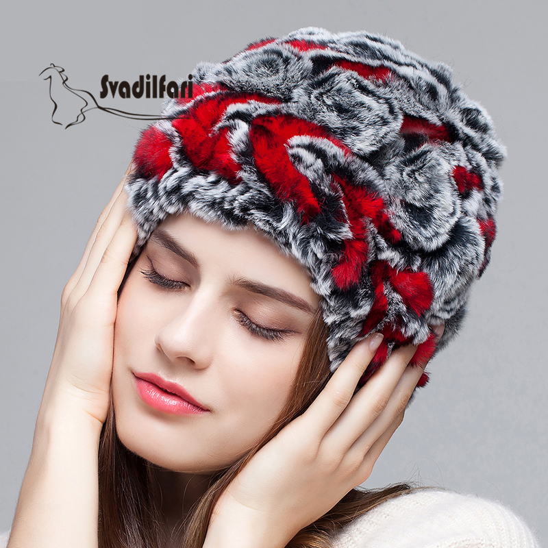 The elderly children cap winter rabbit hair Baotou hat fur knitting wool hat winter flowers mum thick cap gift children knitting wool hat cute keep warm rabbit beanie cap autumn and winter hat with earflaps whcn