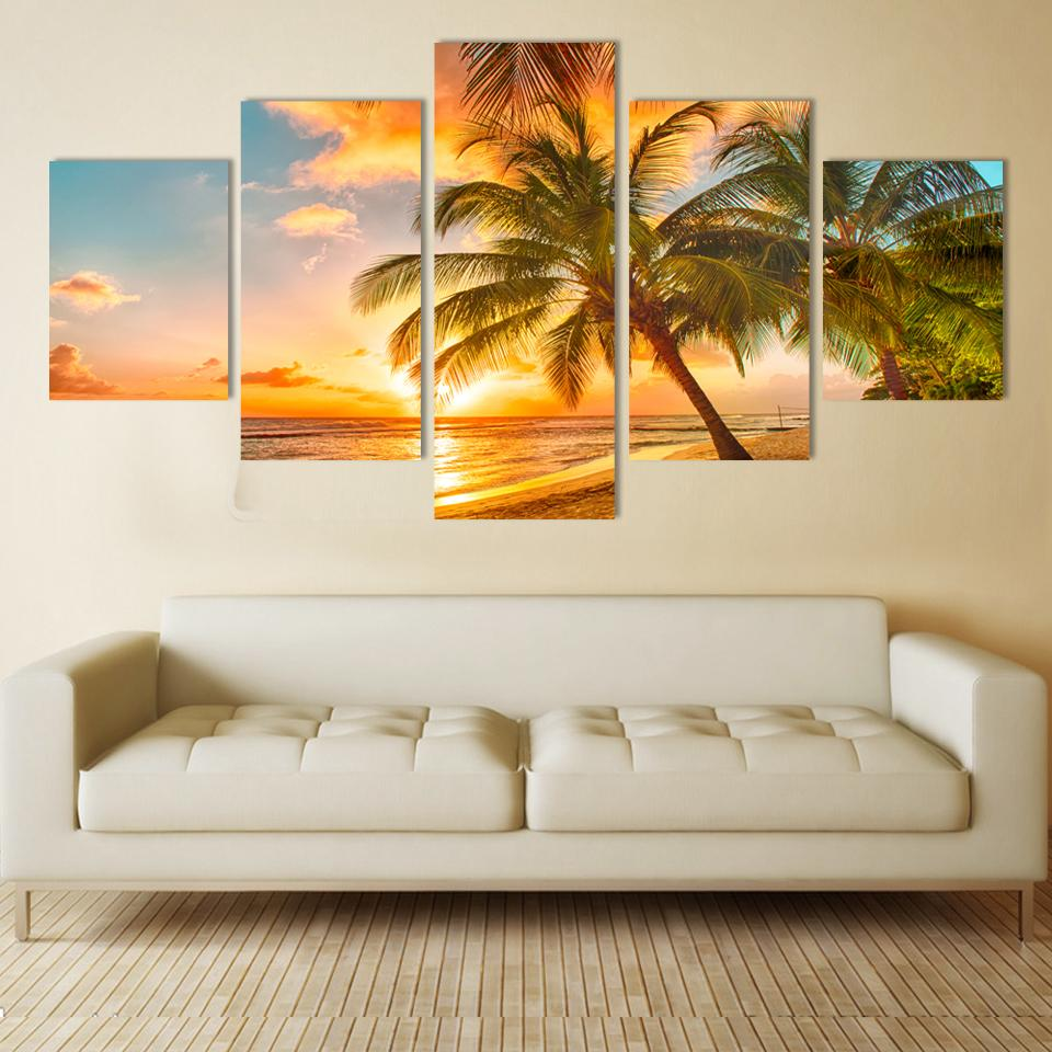 Modern wall art home decoration printed printed oil for Home decoration pieces