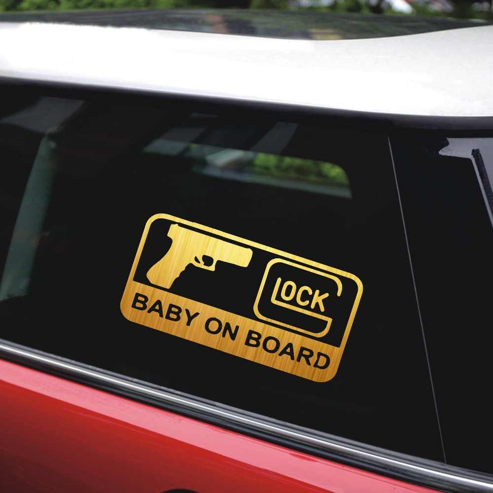 15 77 9cm glock baby on board car stickers and decals car styling car decal