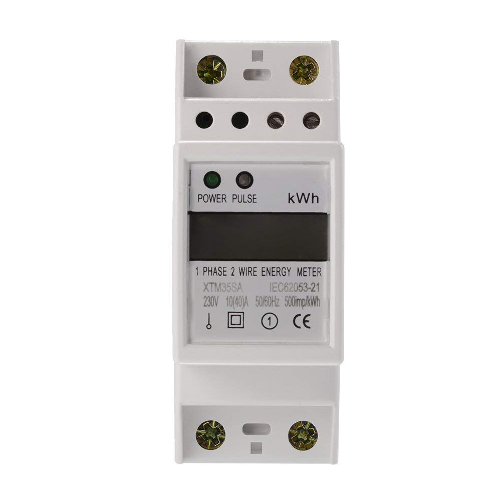 цена на XTM35SA Digital LCD 50Hz 10(40)A 230V Energy Meter 2P Single Phase DIN Rail Kilowatt Hour Electricity KWH Power AD054