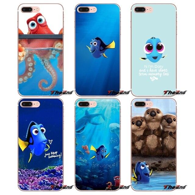 huge discount 5a124 fe8e6 US $0.99  Transparent TPU Bag Case For Apple iPhone X 4 4S 5 5S SE 5C 6 6S  7 8 Plus 6sPlus 6Plus 7plus 8plus Finding Nemo Dory Cartoon Sea-in ...