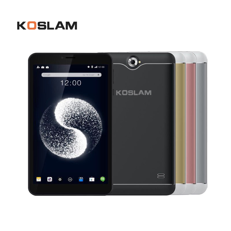 цена на KOSLAM 7 Inch Android 7.0 Tablet PC MTK8321 Quad Core 1GB RAM 8GB ROM Dual SIM Card AGPS WIFI 3G Phone Call Phablet Kid's Tablet