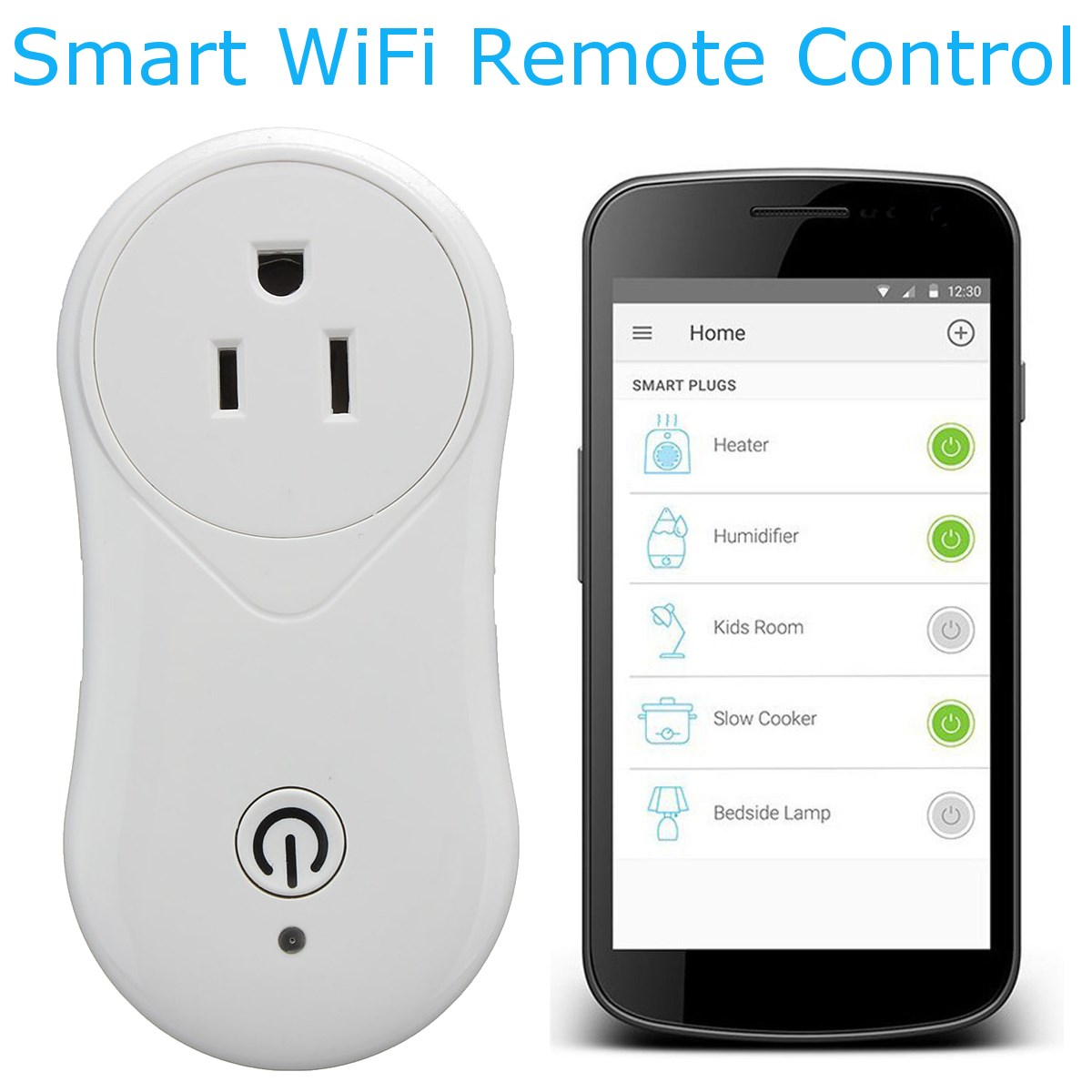Safurance Smart WiFi Wireless Remote Control Smart Timing Switch Socket Outlet US Plug Home Automation 3 pack wireless remote control power outlet switch plug socket infrared heater panel wireless socket