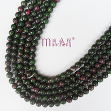 8MM Ruby Apatite bead stone & Natural Red emerald stone beads Stand 8mm Loose Beads Making Women & men jewelry(47-48 beads)