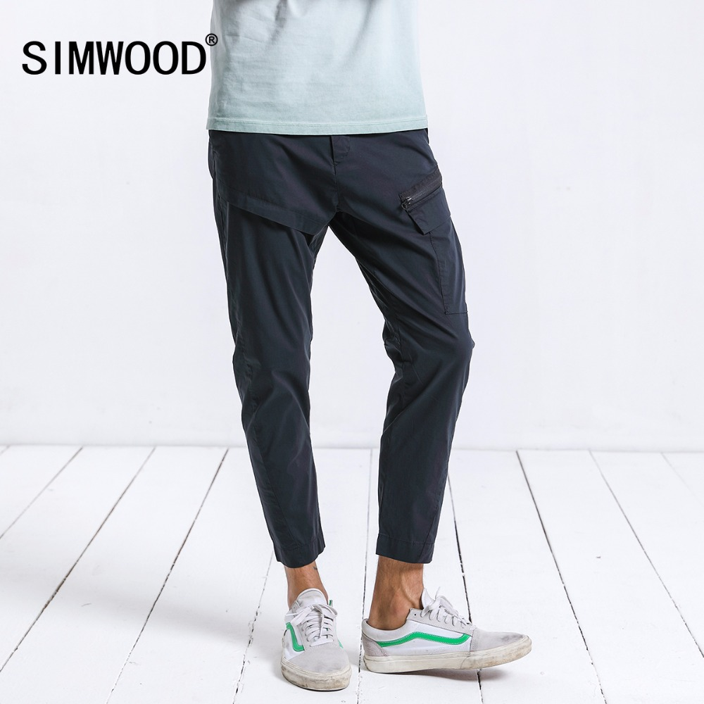 SIMWOOD New 2018 Summer Casual Pants Men Fashion Sweatpants Thin Trousers Plus Size High Quality Brand Clothing 180254