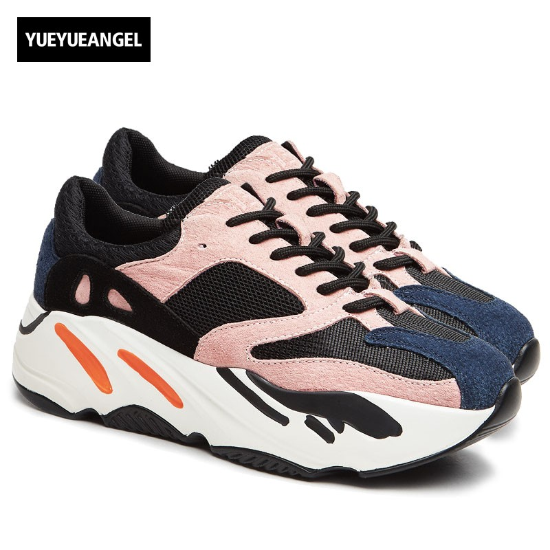 Korean Women New Colors Mixed Thick Platform Casual Shoes Ladies Trainer Lace Up Students Sneakers Brand Hip Hop Sapato Feminino