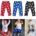 Nueva Lindo Del Bebé Niños Niñas Leggins Niños Pantalones Harem PP Inferior Estrella Pantalones Niños Niñas Leggings Primavera Otoño