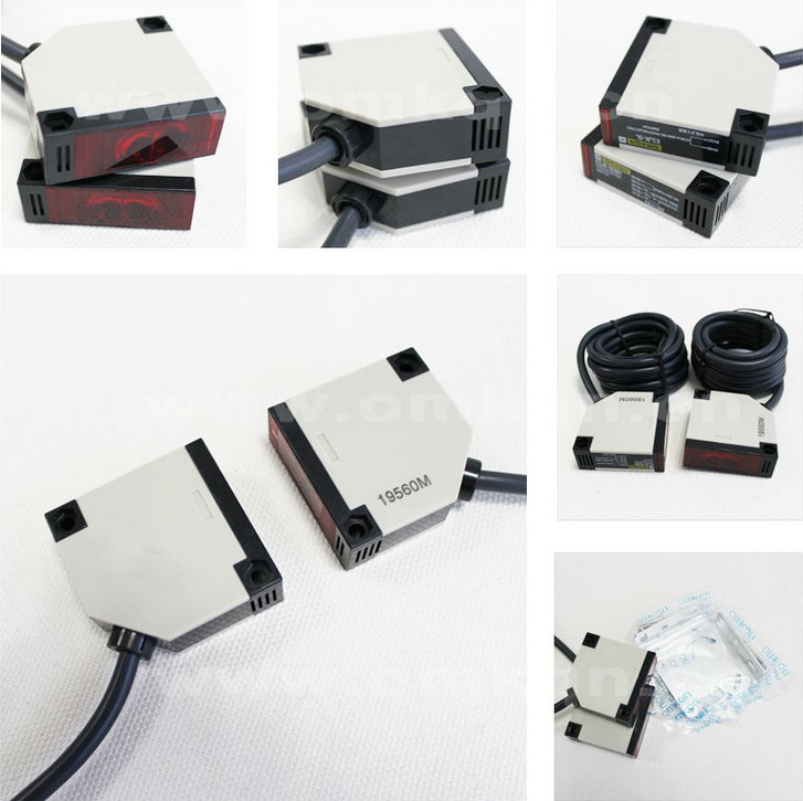 E3JK-20DM1 E3JK-20DM2  Thru-beam Square Photoelectric Switch Sensor Relay Output NO+NC Detection Distance 20 metersE3JK-20DM1 E3JK-20DM2  Thru-beam Square Photoelectric Switch Sensor Relay Output NO+NC Detection Distance 20 meters