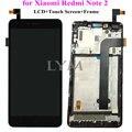 Черный Замена ЖК-ДИСПЛЕЙ + TP + Рамка Тяга для Xiaomi Redmi Note 2 Дисплей LCD + Сенсорный Экран Digitizer с Рамкой для Redmi Note2