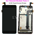Black  Replacement LCD+TP+Frame Assembly for Xiaomi Redmi Note 2 Display LCD +Touch Screen Digitizer with Frame for Redmi Note2