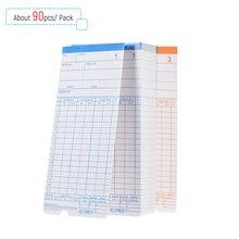 90 шт./упак. время, карты табелей на 2-сторонняя 18*8,4 см для работника контрольные часы, засекают время присутствия Регистраторы
