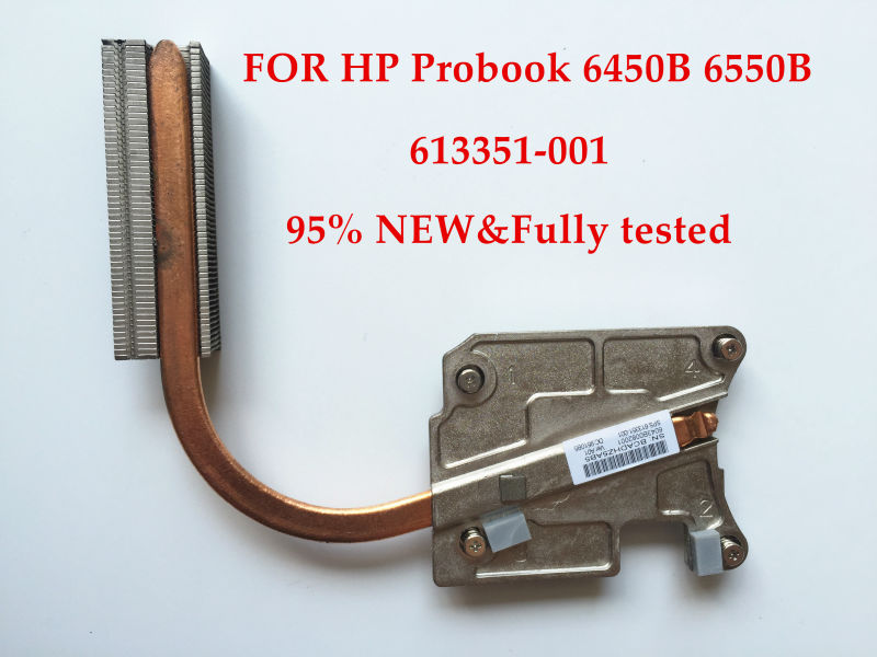 High quality 95% New laptop CPU Cooling system for HP Probook 6450B 6550B Heatsink 613351-001 100% Fully tested&Free shipping free shipping 613295 001 for hp probook 6450b 6550b series laptop motherboard all functions 100% fully tested