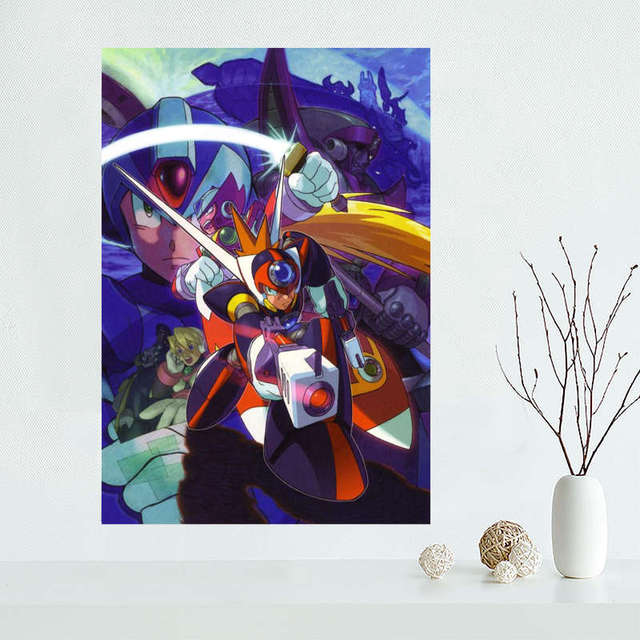 Custom megaman Canvas Painting Poster Cloth Silk Fabric Wall Art Poster for Living Room Home Decor 3