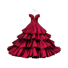 Vintage Burgundy Color Lace Wedding Dresses Robe de Mariage Sexy Sweetheart Floor Length Tiered Bridal Dress Wedding Gowns