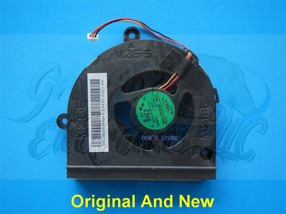 New Notebook CPU Cooler Fan For ASUS K43B K43T A53U K53B K53BY K53 K43 K53T K53U K53Z X53U K73 X53 X53B For ADDA AB07605MX12B300