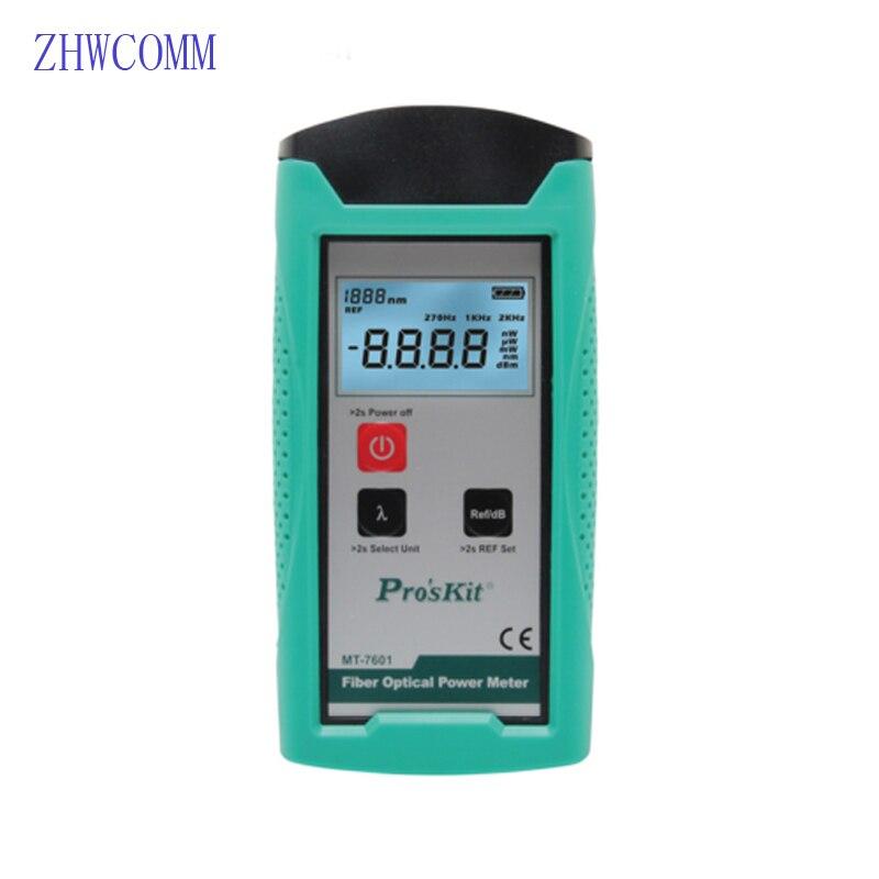 ZHWCOMM MT-7601 haute précision OPM compteur de puissance optique portatif 850nm/1310nm/1490nm/1550nm/1625nm testeur de fibre optique Laser