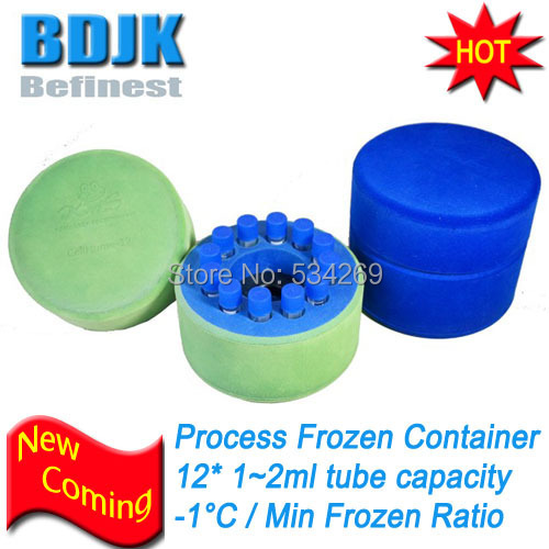 BDJK Cellhome-12 Freezing Container with 12*1ml ~2ml Frozen Pipes or Tubes allrun 12 12 12 with 12