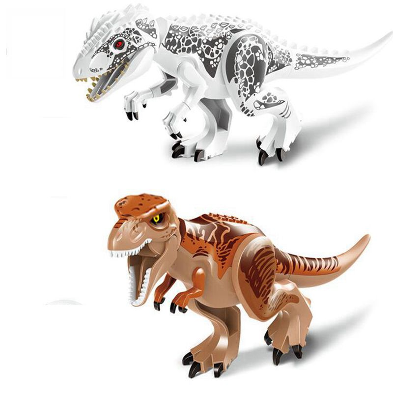 Original Jurassic World Building Blocks Toys Tyrannosaurus Jurrassic Dinosaur Figures Bricks model Toys Compatible with friends 2 sets jurassic world tyrannosaurus building blocks jurrassic dinosaur figures bricks compatible legoinglys zoo toy for kids