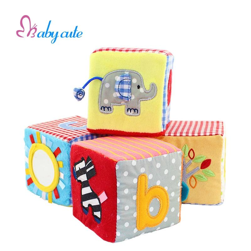 Safe Baby Toys : Aliexpress buy baby cloth block toys plush rattles