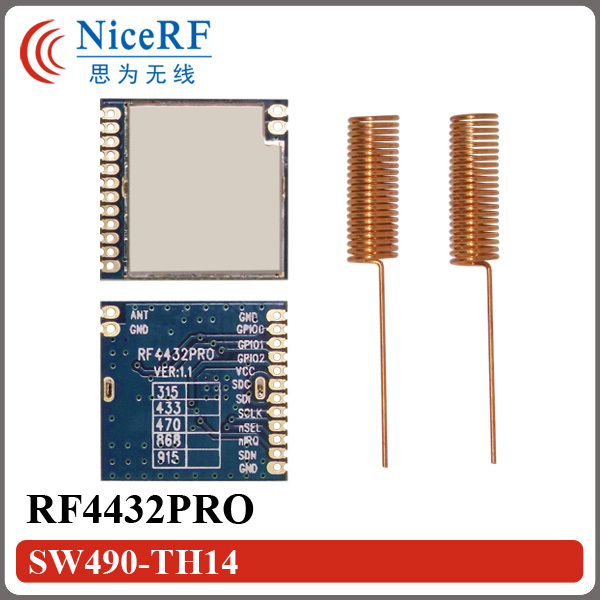2pcs/lot  RF4432PRO Front End RF Module Si4432 RF Chip 868MHz Wireless Transceiver Module