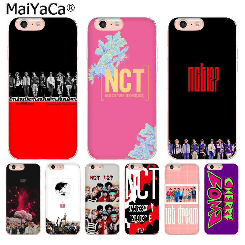 MaiYaCa NCT 127 Kpop Boy group Cute Phone Case Cases Back Cover Capa for iPhone 8 7 6 6S Plus X 10 5 5S SE XR XS XS MAX