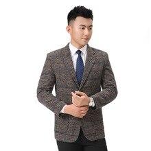 WAEOLSA Chinese Men Slim Fit Blazers Notched Collar Jacket Suit Man Elegant Outfits Male Blazer Masculino Smart Casual Garment M