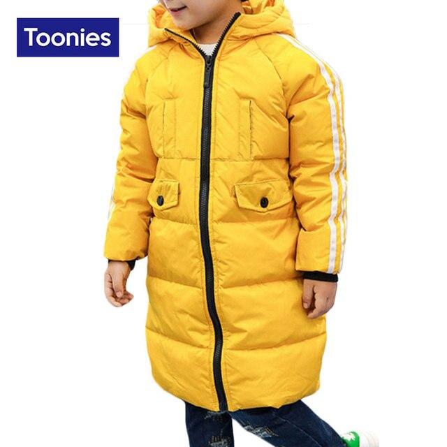 Children White Duck Down Jackets Winter Warm Coats Coat Fashion Thicken Duck Coat Boys Girls Children's Outerwears Kids Clothing