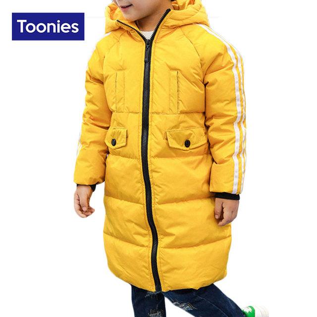 Niños Pato Blanco Abajo Chaquetas Abrigos de Moda Abrigo de Invierno Cálido Espesar Pato Muchachos Capa de Las Muchachas de Los Niños ropa Exterior Ropa Niños