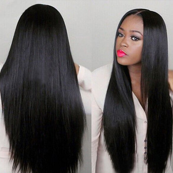 2019 Hot Sell Women Long Brazilian Black Straight Natural Wig Hair Cosplay Full Wigs Costume New Fashion Lady Wigs Drop Shipping fashion nova bathing suits
