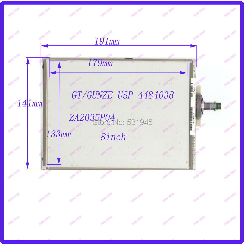 ZhiYuSun POST 8 inch 8 wire resistive Touch Screen 191*141 for  industry applications ZA2035P04  USED table coumpter 8 inch 8 wire resistance handwritten touch screen amt98466 184 141 free shipping