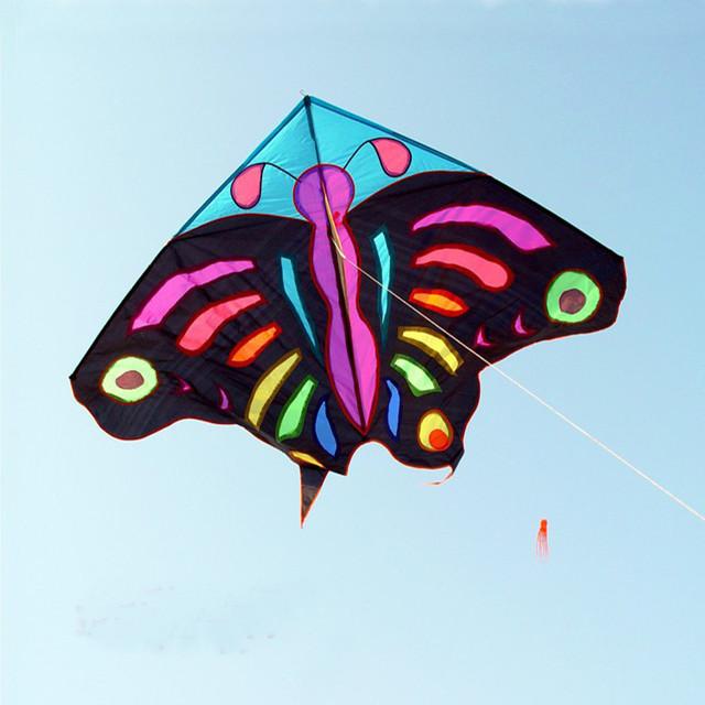 Envío de la alta calidad grande kite3M enorme mariposa cometa con la manija y la línea ferramentas eagles fly bicicleta volante