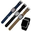 Elegante correa de reloj 22mm 24mm calidad nylon reloj banda para apple watch band 38mm 42mm correa de la otan