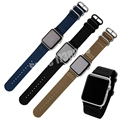 Inteligente pulseira 22mm 24mm qualidade nylon watch band para apple watch band 38mm 42mm cinta nato