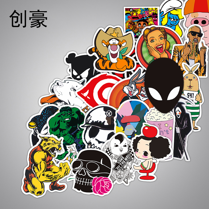 2000 Pcs Classic Style Children Stickers Funny Fashion Anime Sticker Toys Vinyl Waterproof Decal Toy Luggage Laptop Sticker vintage lady beauty luggage skateboard stickers pvc waterproof sunscreen car stickers 5 12cm laptop stickers