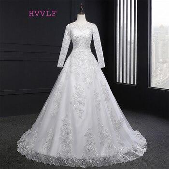 Vestido de noiva 2017 muslim wedding dresses a line long sleeves appliques lace vintage wedding gown.jpg 350x350